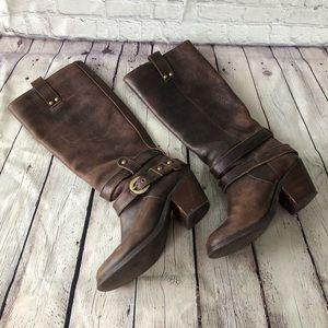 Miz Mooz Frances leather knee high riding boot